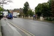 Hanwell Bridge, Uxbridge Road - over River Brent - looking east