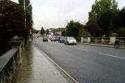 Hanwell Bridge, Uxbridge Road  - over River Brent - looking west
