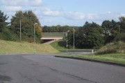 The M5 crosses the Exeter Road, Exminster