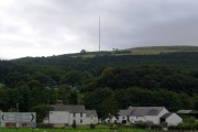 Afonwen, with the nearby Moel-y-Parc TV Antenna in view
