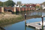 Corner of marina and the old Bourne Bridge