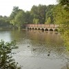 Multi arched bridge over Carr Mill Dam
