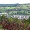 Looking down on Aberfan