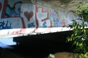 A Graffitied Beam Bridge