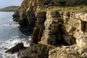 Sea cliffs at Hedbury Quarry
