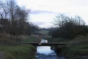 Farm access bridge at Crook Wheel