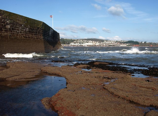 Paignton harbour wall, Fairy Cove