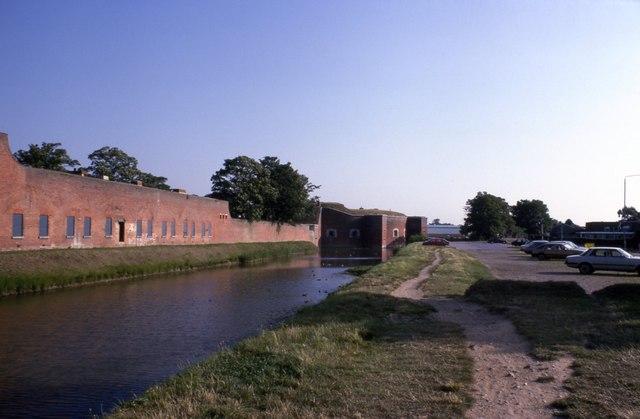 Moat around Fort Brockhurst (2)