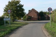 Woolsthorpe Lane in Muston