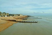 Bognor Regis beach east of pier