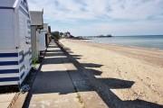 Cromer beach,huts and pier