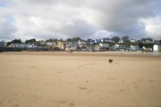 Saundersfoot beach and the town front