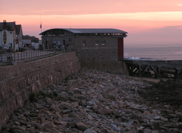 Lifeboat station and beach, Sennen Cove
