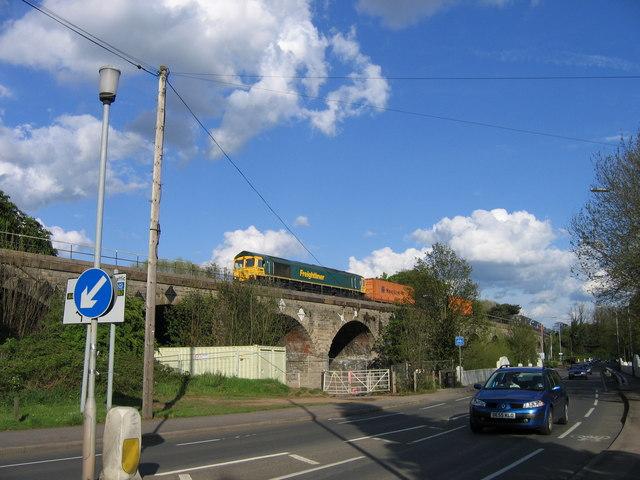 Freightliner on Milverton Viaduct