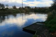 Fishing Platform on the River Derwent