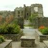 A view of Carew Castle from the herb garden