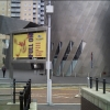 Outside the Lowry Centre Salford Quays