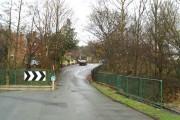 Bridge over Borsdane Brook on Danes Avenue