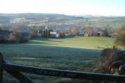 """""""Keep out"""";  view of Baslow from Lady Well"""