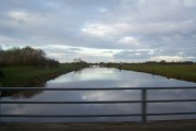Huntspill River from the M5 motorway.
