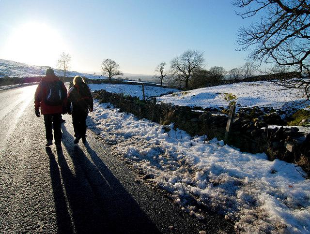 Walking back to Ingleton