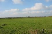 View westwards from Grug Farm towards the Bryngwran-Llanfaelog road
