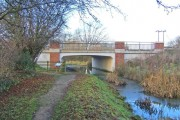 The new Spine Road Bridge and the Thames & Severn Canal