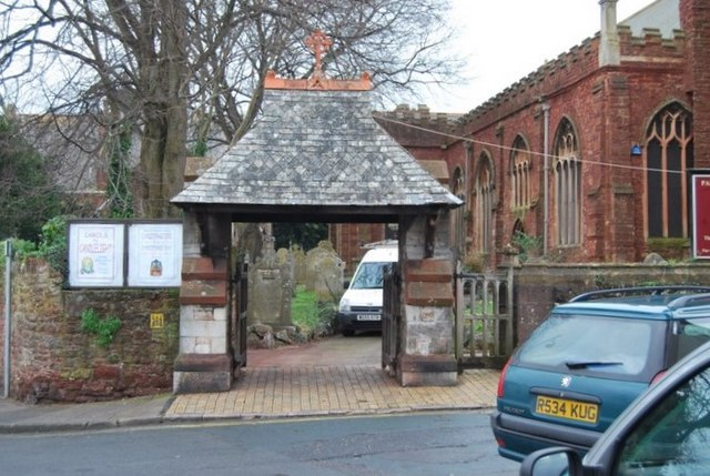 Lych gate at Paignton Parish Church