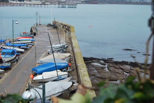 Paignton harbour wall
