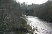 Looking upstream from Barncluith Bridge