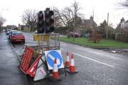 Temporary traffic lights, Roslin