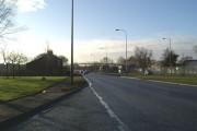 Footbridge over the A49 at Hulme