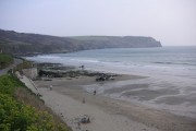 Carne Beach looking east towards Nare Head