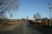 Traffic lights at the bridge