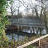 Footbridge over the Mill race by Countess Weir