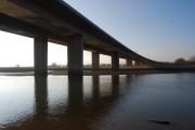 M5 Bridge crosses the River Exe