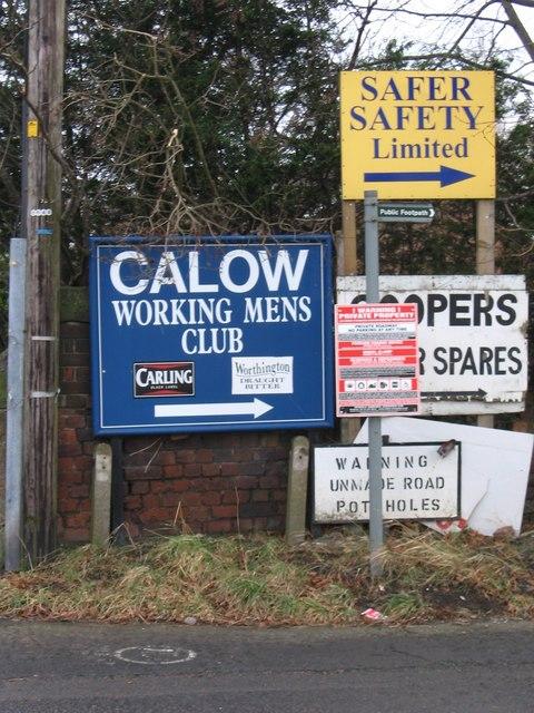 Calow - signage