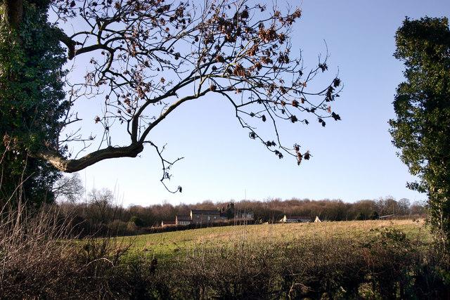 Looking South West towards Hoober Village