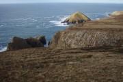 Grassy cliff top above Geodh' Ruadh