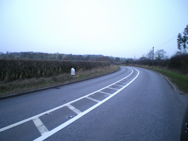The A519 south of Slindon