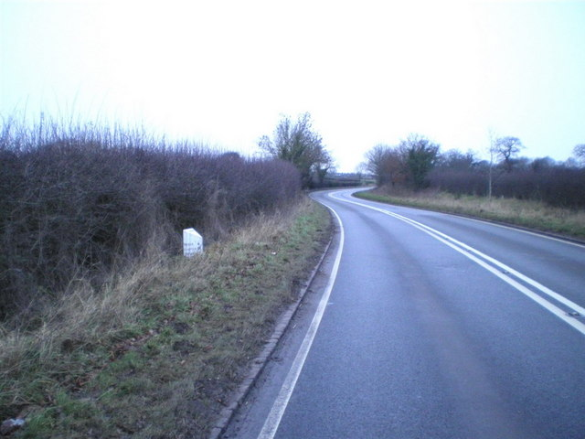 The A519 north of Eccleshall