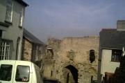 Denbigh old town gate near the castle