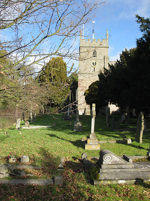 In a country churchyard