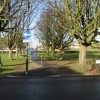 Path through the central island of Market Place, Aylesham