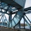 Part of the Queensferry Blue Bridge