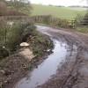 Rudhall Brook passes under the lane