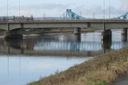The two Queensferry bridges and a swan
