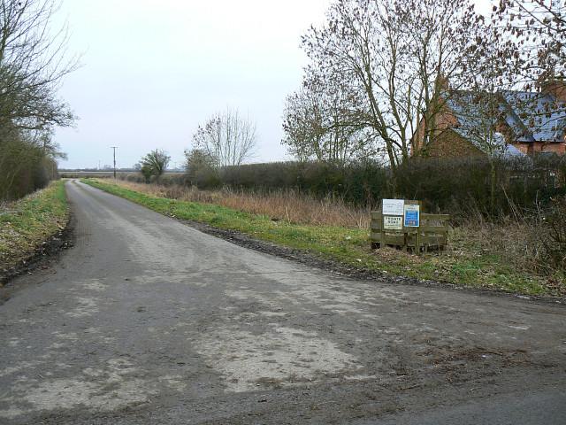 The lane to Castle Hill Farm, near Marston Meysey