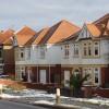 Houses on the B4237, near Coldra, Newport