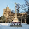 Tring Church in the snow